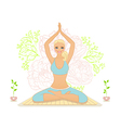 Beautiful woman doing youga exercises vector image vector image