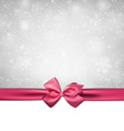 Christmas background with pink bow vector image