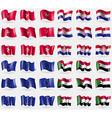 Isle of man Croatia European Union Sudan Set of 36 vector image