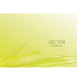 Yellow smooth light lines vector image