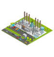 Chemical Plant Isometric Concept vector image
