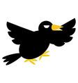 Angry Crow vector image