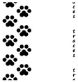 footprints of the animal vector image