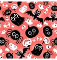 funny halloween monster pattern vector image
