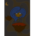 girl doll flies with a broken heart the abstract s vector image