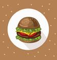 hamburger logo background vector image