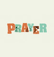 prayer concept stamped word art vector image