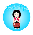 thai woman character vector image