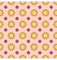 Flower and circle geometric seamless pattern vector image