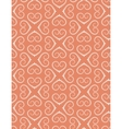 Seamless heart pattern Vintage texture Twist vector image