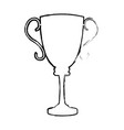 trophy award sport winner element vector image