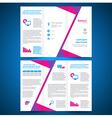 brochure folder leaflet origami geometric vector image