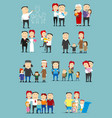 family activity cartoon character set design vector image vector image