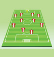 soccer field with players vector image