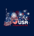 4 july independence day of usa design vector image