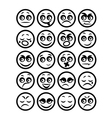 set of icons smiley faces vector image