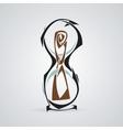 Hourglass Tattoo Tribal vector image