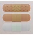 Realistic medical adhesive Bandage Set vector image