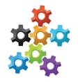 Colorful gear icons vector image