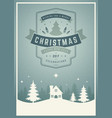 christmas greeting card or poster design vector image