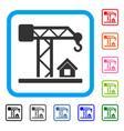 construction crane framed icon vector image