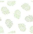 coriander hand drawn seamless pattern vector image