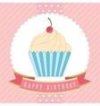 cupcake label vector image