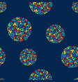 cute memphis style seamless geometric pattern with vector image