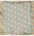 Geometric vintage grunge rhombus background vector image