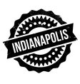 Indianapolis stamp rubber grunge vector image
