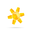 sun in colorful vector image