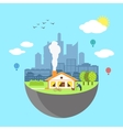 Urban home earth concept vector image