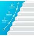 Stairs Step Banner Infographic Template vector image