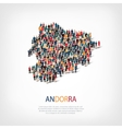 people map country Andorra vector image
