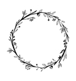 Isolated leaves wreath design vector image