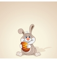 Funny Easter Bunny with Painted Egg vector image vector image