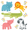Jungle animals vector image vector image