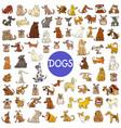 cartoon dog characters huge set vector image vector image