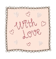 Handkerchief with embroidery vector image vector image