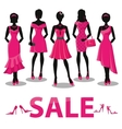 Black friday SalePink party dressesaccessories vector image