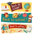 Back to school horizontal banners with education vector image