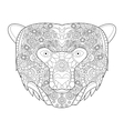 Bear head coloring for adults vector image