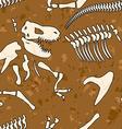 Fossil dinosaur seamless pattern Bones of vector image