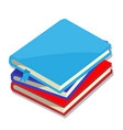 isolated of books - vector image
