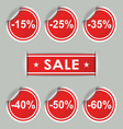 Sale stickers and tags with discounts vector image