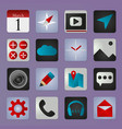 set of social media buttons for design - ic vector image