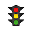 traffic light on white background vector image