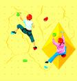 Wall climbing kids vector image