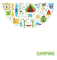 camping icon outline vector image
