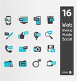 Mimimaly styled siluettes for web vector image vector image